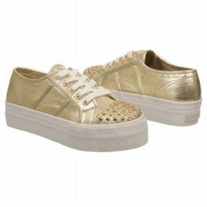 Steve Madden Braady Gold Sneakers